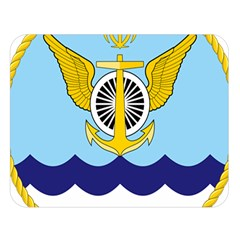 Official Insignia Of Iranian Navy Aviation Double Sided Flano Blanket (large)  by abbeyz71