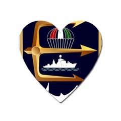 Iranian Navy Marine Corps Badge Heart Magnet by abbeyz71