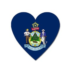 Flag Of Maine Heart Magnet by abbeyz71