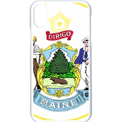 Great Seal Of The State Of Maine Iphone Xs Seamless Case (white) by abbeyz71