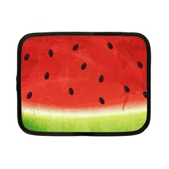 Juicy Paint Texture Watermelon Red And Green Watercolor Netbook Case (small) by genx