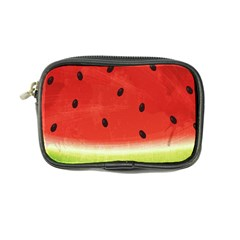 Juicy Paint Texture Watermelon Red And Green Watercolor Coin Purse by genx