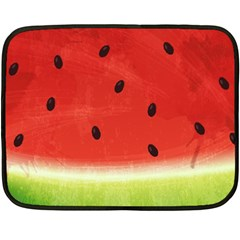 Juicy Paint Texture Watermelon Red And Green Watercolor Double Sided Fleece Blanket (mini)  by genx