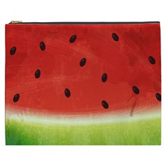 Juicy Paint Texture Watermelon Red And Green Watercolor Cosmetic Bag (xxxl) by genx