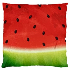 Juicy Paint Texture Watermelon Red And Green Watercolor Standard Flano Cushion Case (one Side) by genx