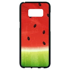 Juicy Paint Texture Watermelon Red And Green Watercolor Samsung Galaxy S8 Black Seamless Case by genx