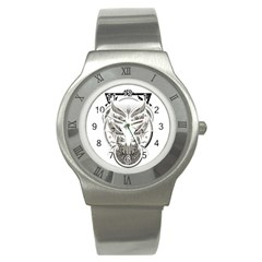 Owl Stainless Steel Watch