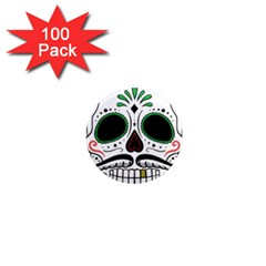 Day Of The Dead Skull Sugar Skull 1  Mini Magnets (100 Pack)