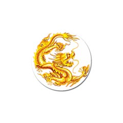 Chinese Dragon Golden Golf Ball Marker