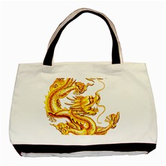 Chinese Dragon Golden Basic Tote Bag (two Sides)