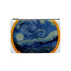 The Starry Night Starry Night Over The Rhne Pain Cosmetic Bag (medium)