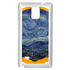 The Starry Night Starry Night Over The Rhne Pain Samsung Galaxy Note 4 Case (white)