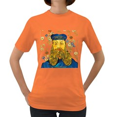 Vincent Van Gogh Cartoon Beard Illustration Bearde Women s Dark T Shirt