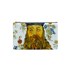 Vincent Van Gogh Cartoon Beard Illustration Bearde Cosmetic Bag (small)