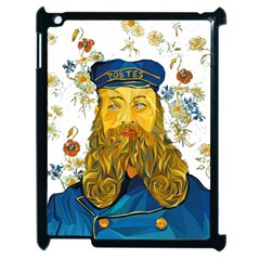 Vincent Van Gogh Cartoon Beard Illustration Bearde Apple Ipad 2 Case (black)