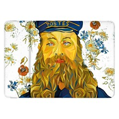 Vincent Van Gogh Cartoon Beard Illustration Bearde Samsung Galaxy Tab 8 9  P7300 Flip Case