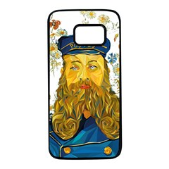 Vincent Van Gogh Cartoon Beard Illustration Bearde Samsung Galaxy S7 Black Seamless Case