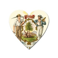 Historic Maine State Coat Of Arms, 1876 Heart Magnet by abbeyz71