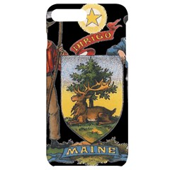 Maine State Coat Of Arms (str?hl), 1899 Iphone 7/8 Plus Black Uv Print Case