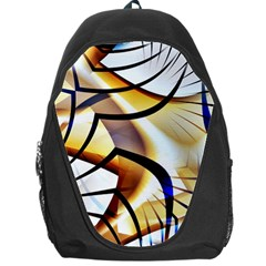 Pattern Fractal Gold Pointed Backpack Bag