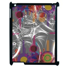 Flora Entwine Fractals Flowers Apple Ipad 2 Case (black) by Pakrebo