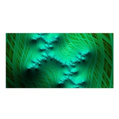 Fractal Maths Design Backdrop Satin Shawl