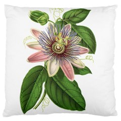 Passion Flower   Vintage Large Flano Cushion Case (two Sides) by WensdaiAddamns