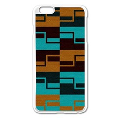 Illusion In Orange & Teal Iphone 6 Plus/6s Plus Enamel White Case by WensdaiAddamns