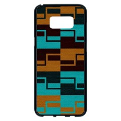Illusion In Orange & Teal Samsung Galaxy S8 Plus Black Seamless Case by WensdaiAmbrose
