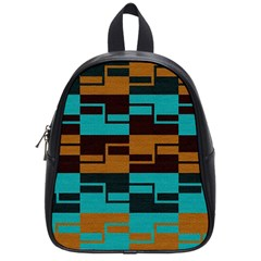 Illusion In Orange & Teal School Bag (small) by WensdaiAddamns