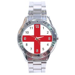 Flag Of England Stainless Steel Analogue Watch by abbeyz71