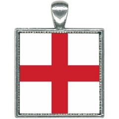 Flag Of England Square Necklace by abbeyz71