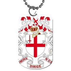 Coat Of Arms Of The City Of London Dog Tag (two Sides) by abbeyz71