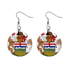 Coat Of Arms Of Alberta Mini Button Earrings by abbeyz71