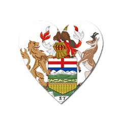 Coat Of Arms Of Alberta Heart Magnet by abbeyz71