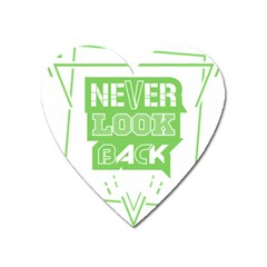 Never Look Back Heart Magnet by Melcu