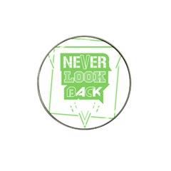 Never Look Back Hat Clip Ball Marker by Melcu