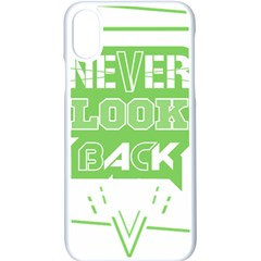 Never Look Back Iphone Xs Seamless Case (white) by Melcu