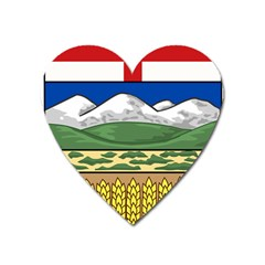 Provincial Shield Of Alberta Heart Magnet by abbeyz71