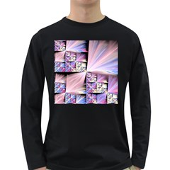 Fractal Art Artwork Digital Art Long Sleeve Dark T Shirt