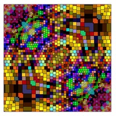 Color Mosaic Background Wall Large Satin Scarf (square)