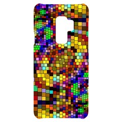 Color Mosaic Background Wall Samsung S9 Plus Black Uv Print Case
