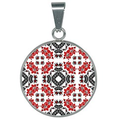 Ornament Seamless Pattern Element 25mm Round Necklace