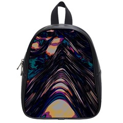Pattern Texture Fractal Colorful School Bag (small)