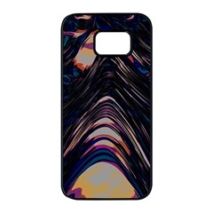 Pattern Texture Fractal Colorful Samsung Galaxy S7 Edge Black Seamless Case