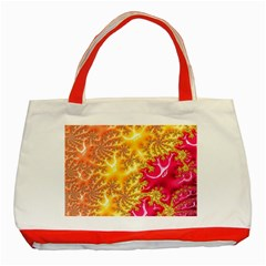Fractal Math Mathematics Science Classic Tote Bag (red)