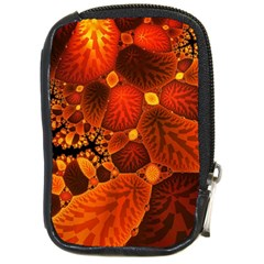 Leaf Autumn Nature Background Compact Camera Leather Case by Pakrebo