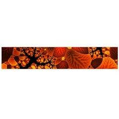 Leaf Autumn Nature Background Large Flano Scarf  by Pakrebo