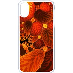 Leaf Autumn Nature Background Iphone Xs Seamless Case (white) by Pakrebo