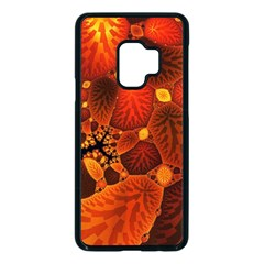 Leaf Autumn Nature Background Samsung Galaxy S9 Seamless Case(black)